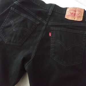 Levi's 550 Relaxed Jeans Black Size 8